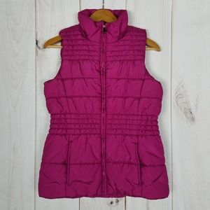 New York and Company Hot Pink Puffer Vest